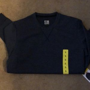 Men's blue crew neck sweater
